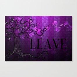 LEAVE - Spring Plum Canvas Print
