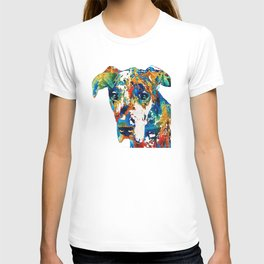 Colorful Great Dane Art Dog By Sharon Cummings T-shirt