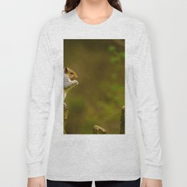 Cute Squirrel (Color) Long Sleeve T-shirt