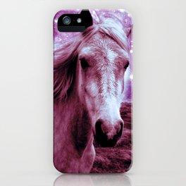 Mauve Horse Celestial Dreams iPhone Case