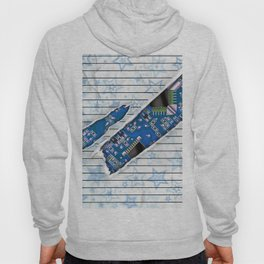 Stationary Scratch with Circuit Board Hoody