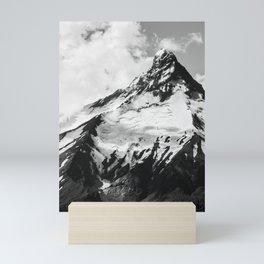 black and white volcano photography   b&w nature landscape Mini Art Print