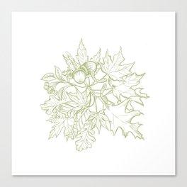 Leaf Mix Green Canvas Print
