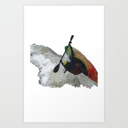 Kayak Decent Art Print