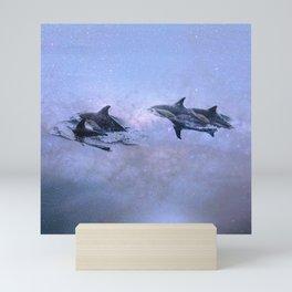 Surfing the Milky Way Mini Art Print