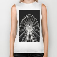 ferris wheel Biker Tanks featuring Ferris Wheel by Mack & Mack