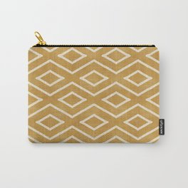 Stitch Diamond Tribal in Gold Carry-All Pouch