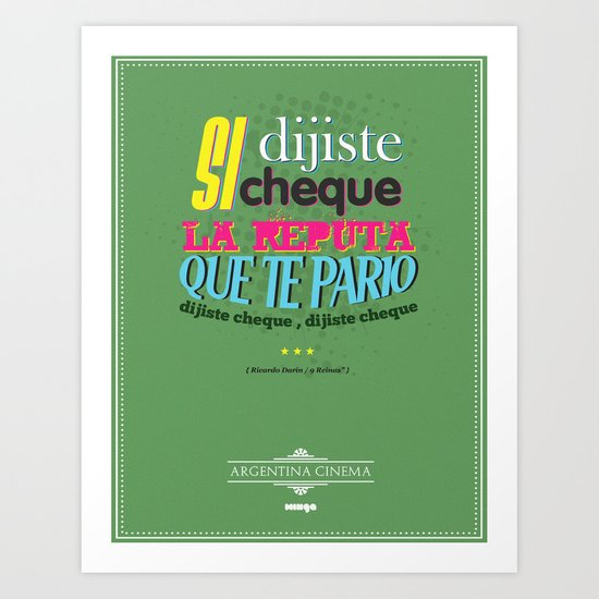 Argentina Cinema Art Print
