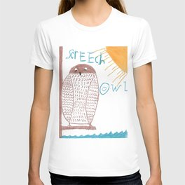 owl screech T-shirt