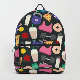 I'm Not Perfect, Fitness Pattern Backpack