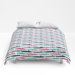Colorful Submarine Squadron Comforters