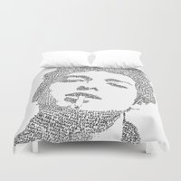 dylan Duvet Covers featuring Bob Dylan by S. L. Fina