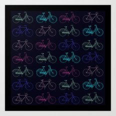 Vintage Bicycles Art Print