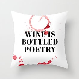 wine bar no. 3 Throw Pillow
