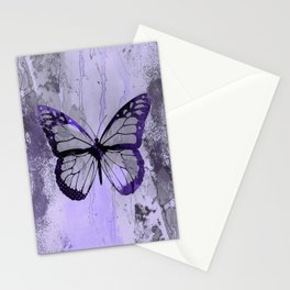 Abstract Butterfly Art Ultraviolett Colors Stationery Cards
