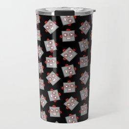 Retro Robot Heads Travel Mug