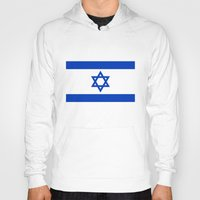 palestine Hoodies featuring The National flag of the State of Israel by Bruce Stanfield
