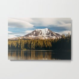 Mount Adams from Takhlakh Lake Metal Print