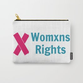 Womxns Rights Logo - Color Carry-All Pouch