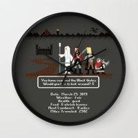 aragorn Wall Clocks featuring Aragorn Trail by Drew Brockington