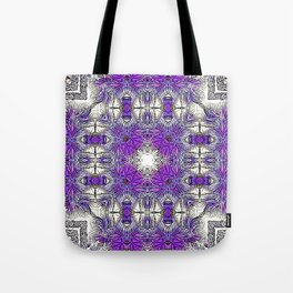 Palm Leaves Abstract Art Pattern Tote Bag
