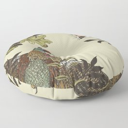 Fox & Pheasant Floor Pillow