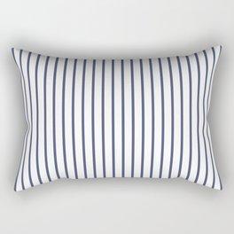 Posey Violet Thin Pinstripe on White Rectangular Pillow