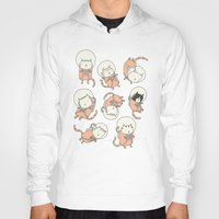 cat coquillette Hoodies featuring Cat-Stronauts by Drew Brockington