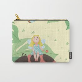 Girl On Ladybug Carry-All Pouch