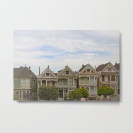 Alamo Square, San Francisco  Metal Print