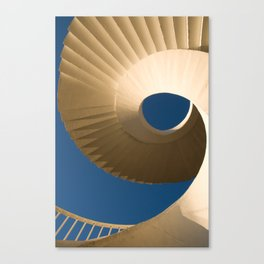 bottom view at twisted stairs Canvas Print