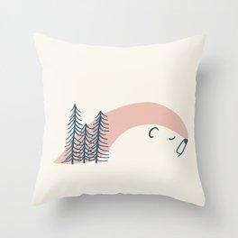 Wintersleep polar bear Throw Pillow