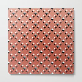 Mod Coral Metal Print