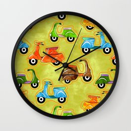 Mod Scooters Wall Clock