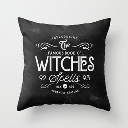 The Witches guide to spells Throw Pillow