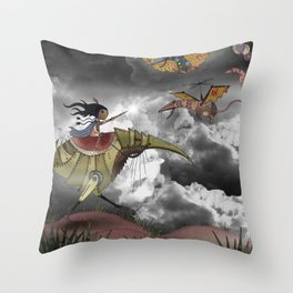 The Rat Wars Throw Pillow
