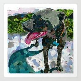 Bolo the Pittie Art Print