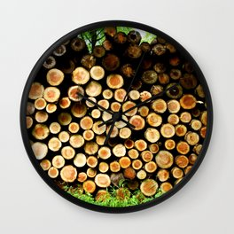 The Great Wall Of Wood Wall Clock