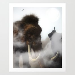 The Giant Mammoth by GEN Z Art Print