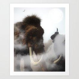 The Giant Mammoth by GEN Z Art Print