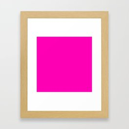 The Future Is Bright Pink - Solid Color - Hot Pink Framed Art Print