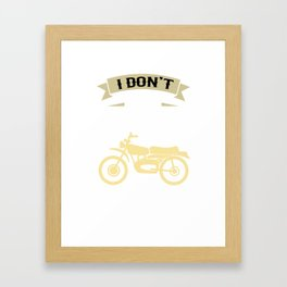 I Dream a Motorcycle Framed Art Print