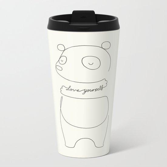 Love Yourself Panda Metal Travel Mug
