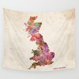 Great Britain map Wall Tapestry