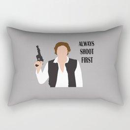 always shoot first Rectangular Pillow