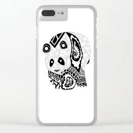 Señor Panda Clear iPhone Case