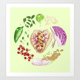 Fish Taco Diagram Art Print