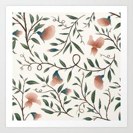 Floral Botanical Pattern Art Print