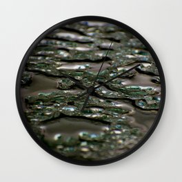 abstract drops in the rain Wall Clock
