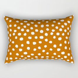 Texan texas longhorns orange and white university college football dots Rectangular Pillow